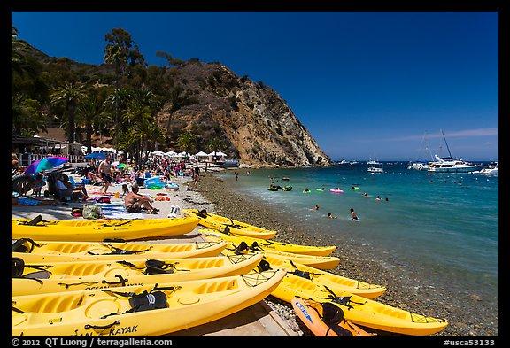 Descanson Beach And Sea Kayaks Avalon Santa Catalina Island California Usa