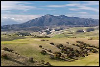Gabilan Mountains raising above hills. California, USA ( color)