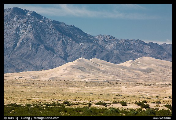 Kelso Sand Dunes at the base of Granite Mountains. Mojave National Preserve, California, USA (color)