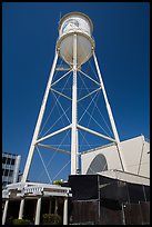 Water tower, Paramount Pictures lot. Hollywood, Los Angeles, California, USA (color)