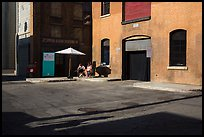 New York backlot, Paramount Pictures Studios. Hollywood, Los Angeles, California, USA (color)