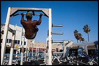 Muscle Beach, Ocean Front Walk. Venice, Los Angeles, California, USA ( color)