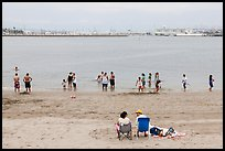 Cabrillo Beach and Long Island Harbor, San Pedro. Los Angeles, California, USA ( color)