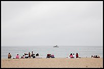 Overcast day at Cabrillo Beach, San Pedro. Los Angeles, California, USA ( color)