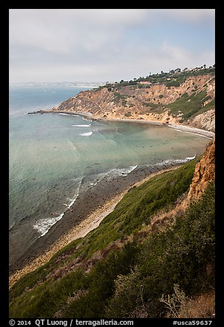 Cove and bluffs, Rancho Palo Verdes. Los Angeles, California, USA (color)