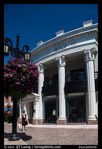 Woman shops near Rodeo Drive. Beverly Hills, Los Angeles, California, USA (color)