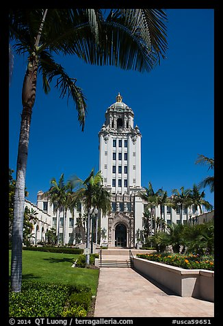 City Hall. Beverly Hills, Los Angeles, California, USA (color)