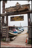 Gate to Dory Fishing Fleet. Newport Beach, Orange County, California, USA ( color)