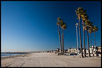 Deserted beach in winter. Newport Beach, Orange County, California, USA ( color)