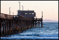 Newport Pier in late afternoon. Newport Beach, Orange County, California, USA ( color)