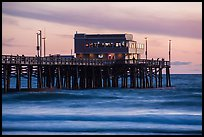 Newport Pier and restaurant at sunset. Newport Beach, Orange County, California, USA ( color)
