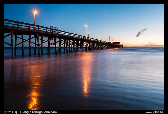 Newport Pier at sunset. Newport Beach, Orange County, California, USA (color)