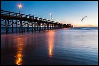 Newport Pier at sunset. Newport Beach, Orange County, California, USA ( color)