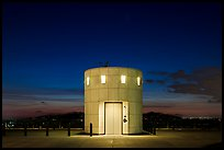Elevator tower at night, Griffith Observatory. Los Angeles, California, USA ( color)