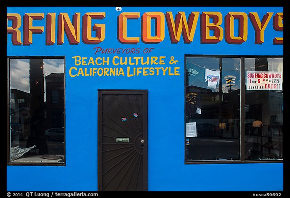 Surfing Cowboys storefront. Venice, Los Angeles, California, USA (color)