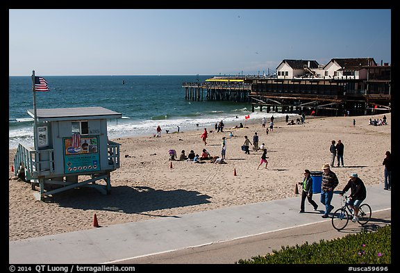 Redondo Beach pier, Redondo Beach. Los Angeles, California, USA (color)