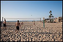 Beach volleyball, Hermosa Beach. Los Angeles, California, USA ( color)