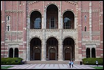 Facade of Royce Hall, University of California at Los Angeles, Westwood. Los Angeles, California, USA ( color)