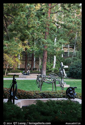 Sculpture Garden, University of California at Los Angeles, Westwood. Los Angeles, California, USA (color)