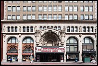 Downtown facade with historic theater. Los Angeles, California, USA ( color)
