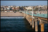 View from pier, Manhattan Beach. Los Angeles, California, USA ( color)