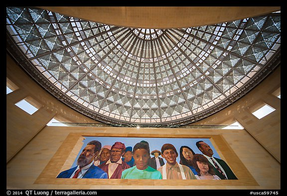 City of Dreams by Richard Wyatt and Dome, Union station. Los Angeles, California, USA (color)