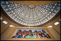 City of Dreams by Richard Wyatt and Dome, Union station. Los Angeles, California, USA ( color)