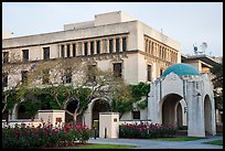 Ornate building and arch on Caltech campus. Pasadena, Los Angeles, California, USA ( color)