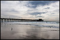 Newport Pier and clouds. Newport Beach, Orange County, California, USA ( color)
