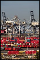 Shipping containers and cranes. Long Beach, Los Angeles, California, USA ( color)