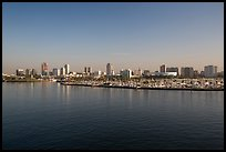Long Beach skyline and marina. Long Beach, Los Angeles, California, USA ( color)