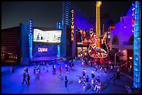 Universal Citywalk at night. Universal City, Los Angeles, California, USA ( color)