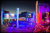Universal Citywalk entertainment and retail districts at night. Universal City, Los Angeles, California, USA ( color)