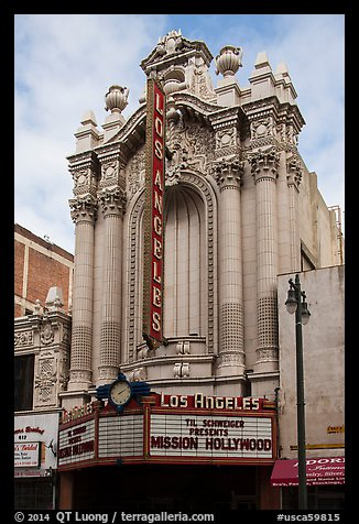 Historic Los Angeles Theater on Broadway. Los Angeles, California, USA (color)