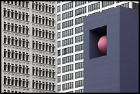 Sculpture detail and facades, Pershing Square. Los Angeles, California, USA ( color)