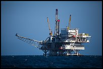 Offshore oil rig. California, USA ( color)