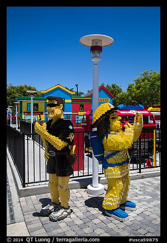 Life-size figures, Legoland, Carlsbad. California, USA (color)