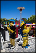 Life-size figures, Legoland, Carlsbad. California, USA ( color)