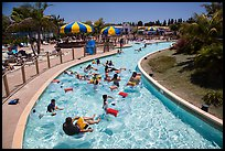 Floating in waterpark, Legoland, Carlsbad. California, USA ( color)