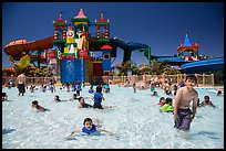 Waterpark and slides, Legoland, Carlsbad. California, USA ( color)