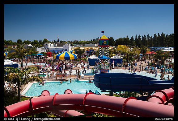Legoland Waterpark from the top, Carlsbad. California, USA (color)
