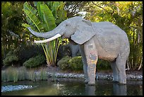 Life-size elephant, Legoland, Carlsbad. California, USA ( color)
