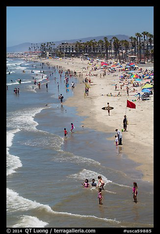 Beach, Oceanside. California, USA (color)