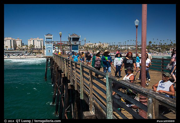 Looking from pier, Oceanside. California, USA (color)