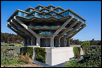 Geisel Library, in brutalist architectural style, UCSD. La Jolla, San Diego, California, USA ( color)