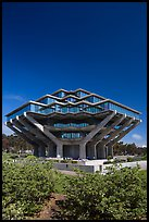 Geisel Library designed by William Pereira, University of California. La Jolla, San Diego, California, USA ( color)