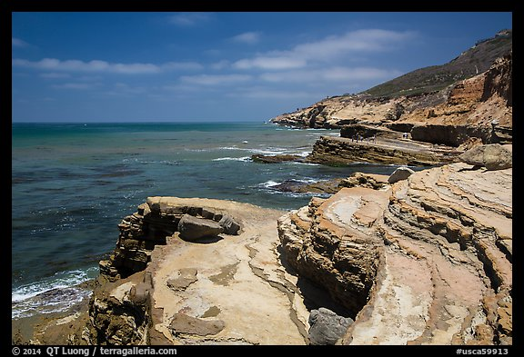 Sculptured coastline, Cabrillo National Monument. San Diego, California, USA (color)