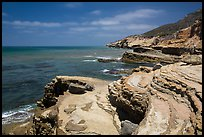 Sculptured coastline, Cabrillo National Monument. San Diego, California, USA ( color)