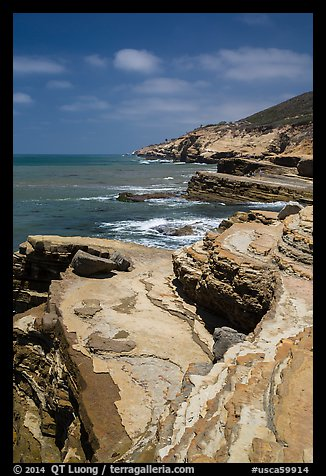 Coastline, Cabrillo National Monument. San Diego, California, USA (color)