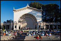 Music performance at Spreckels Pavilion. San Diego, California, USA ( color)